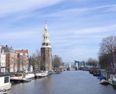 Tower in amsterdam — Stock Photo
