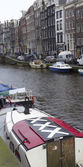 Amsterdam city flag — Stock Photo