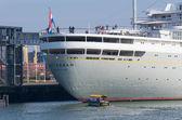 Passenger ship in Rotterdam — Stock Photo