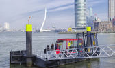 Water taxi departure location — Stock Photo