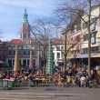 Market square in The Hague — Stock Photo