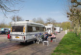 Rv at picnic area — Stock Photo