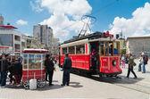 Nostalgic Istiklal Caddesi Tram — Stock Photo