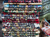 Stacked carpets — Foto Stock
