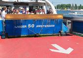 Amsterdam ferryboat — Stock Photo