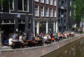 Amsterdam terrace — Stock Photo