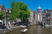 Amsterdam canal — Stockfoto