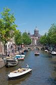 アムステルダムの運河 — ストック写真