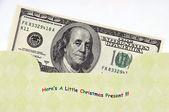 Christmas Money Envelope / Gift Card — 图库照片