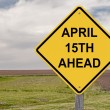 Caution - April 15th Ahead — Stock Photo