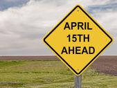 警告-4 月 15 日未来 — 图库照片