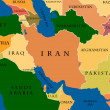 Colored Map Of Middle East — Stock Photo #16318951