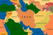 Colored Map Of The Middle East — Stock Photo