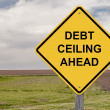 Caution - Debt Ceiling Ahead - Stock Photo