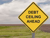 Caution - Debt Ceiling Ahead — Stock Photo