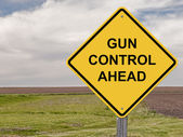 Caution - Gun Control Ahead — Stock Photo