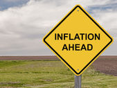 Caution - Inflation Ahead — Stock Photo