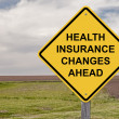 Caution - Health Insurance Changes Ahead — Stock Photo