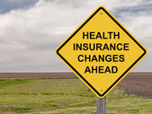 Caution - Health Insurance Changes Ahead — 图库照片
