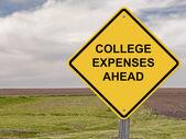 Caution - College Expenses Ahead — Stock Photo