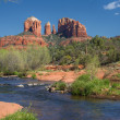 Stock Photo: Cathedral Rock Viewed From Red Rock Crossing