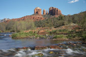 Cathedral Rock Viewed From Red Rock Crossing — Stock Photo