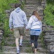 Young Couple Walking Hand In Hand — Stock Photo
