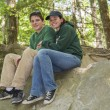 Stock Photo: Young Couple At Park