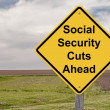Stock Photo: Caution Sign - Social Security Cuts Ahead