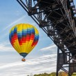Hot Air Balloon In Flight At Letchworth State Park — Stock Photo