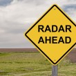 Stock Photo: Caution - Radar Ahead