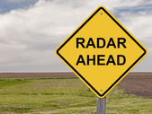 Caution - Radar Ahead — Stock Photo