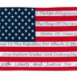 American Flag With The Pledge Of Allegiance — Stock Photo #7651210