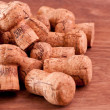 Champagne and sparkling wine corks close up — Stock Photo