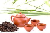 A set of Chinese tea in clay — Stock Photo
