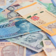 Asian currencies background — Stock Photo #31114625