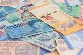 Asian currencies background — Stock Photo