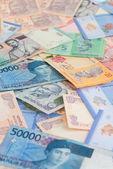 Asian currencies close up — Stock Photo