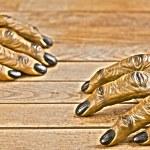 Werewolf hands for Halloween Hdr effect — Stock Photo