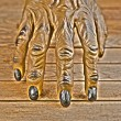 Werewolf hand for Halloween Hdr effect — Stock Photo