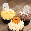 Halloween cup cakes — Stock Photo