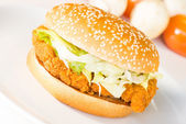 Crispy Chicken Burger — Stock Photo