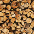 Pile of logs for fire — Stock Photo