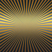 Gold metal texture background with luxurious vintage black rays — Stock Photo