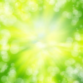 Green bokeh abstract light background texture — Stock Photo