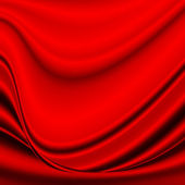 Red abstract background elegant wave silk satin fabric texture, may use as valentines day background or christmas background — Stok fotoğraf