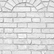 Old white brick wall texture — Stock Photo