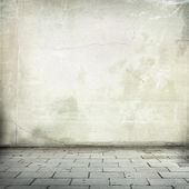 White Interior grunge wall texture background — Stock Photo