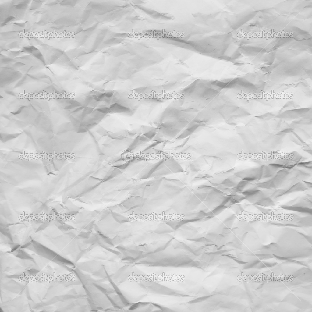 Old white crumpled paper texture background — Stock Photo