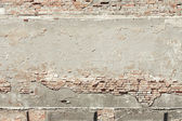 Urban background grunge wall texture red brick frame — Stock Photo